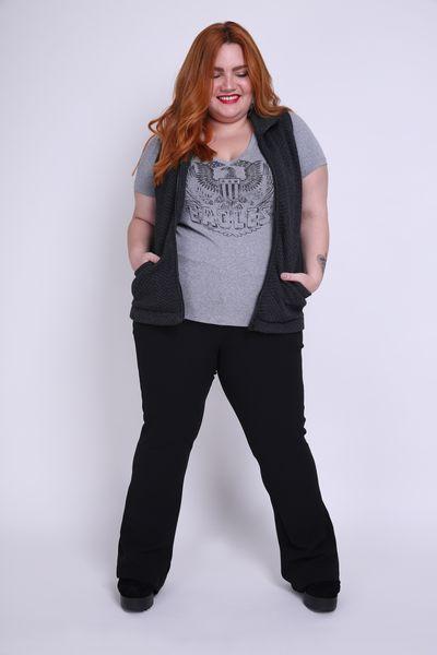 T-shirt--mescla--silk-eagles-plus-size