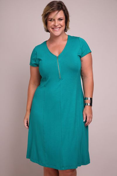 Vestido-malha-plus-size