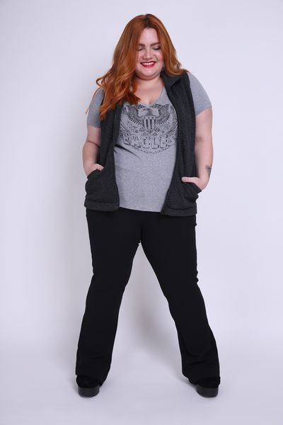 T-shirt--mescla--silk-eagles-plus-size