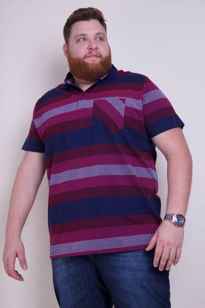 Polo-masculina-plus-size-listrada
