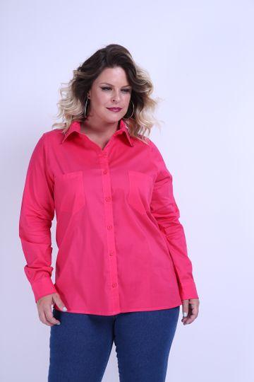 Camisa-tricoline-plus-size
