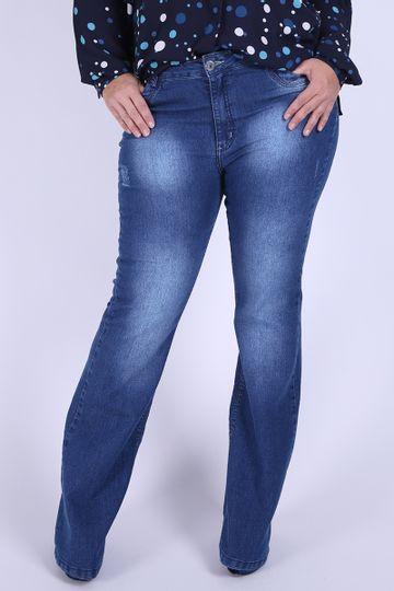 Flare-jeans-elastano--puidos