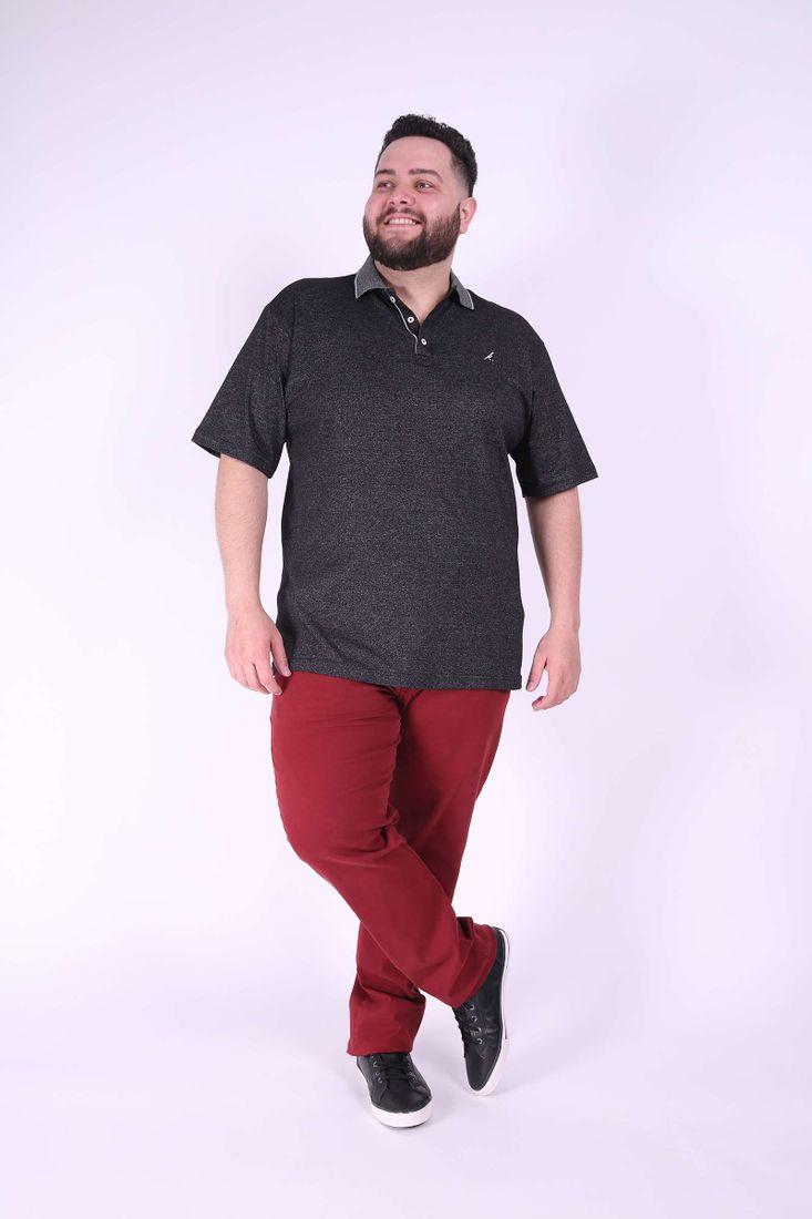 Polo-masculina-malha-mesclada-plus-size