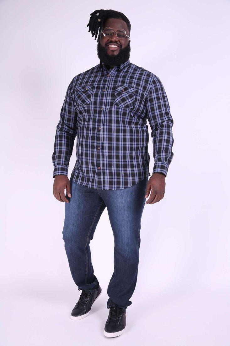 Camisa-xadrez-manga-longa-plus-size ... 00c4bf33f1684
