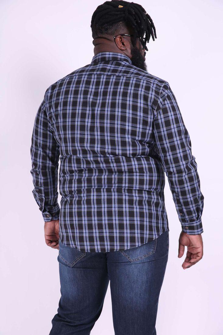 Camisa-xadrez-manga-longa-plus-size