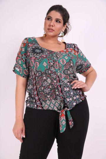 Camisa-twist-plus-size