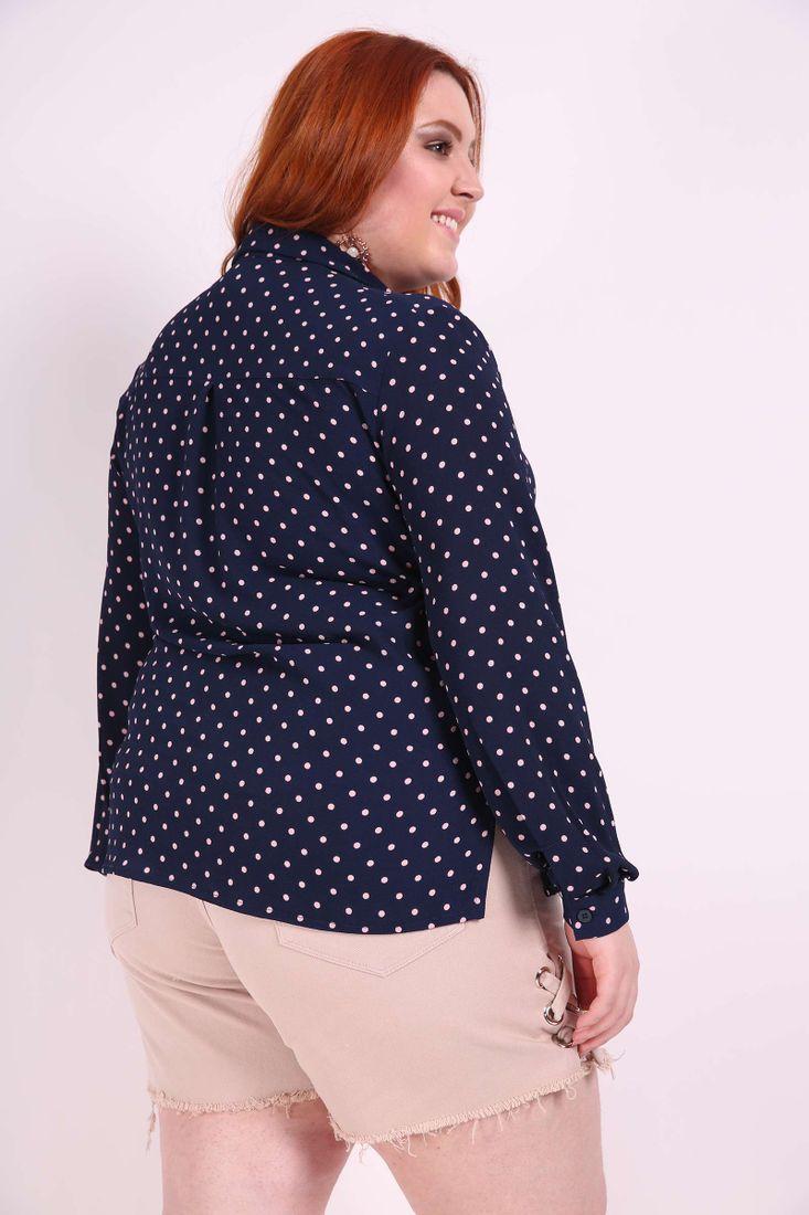 Camisa-poa-plus-size
