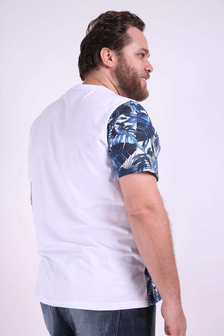 Camiseta-com-recortes-lisos-e-estampado-plus-size