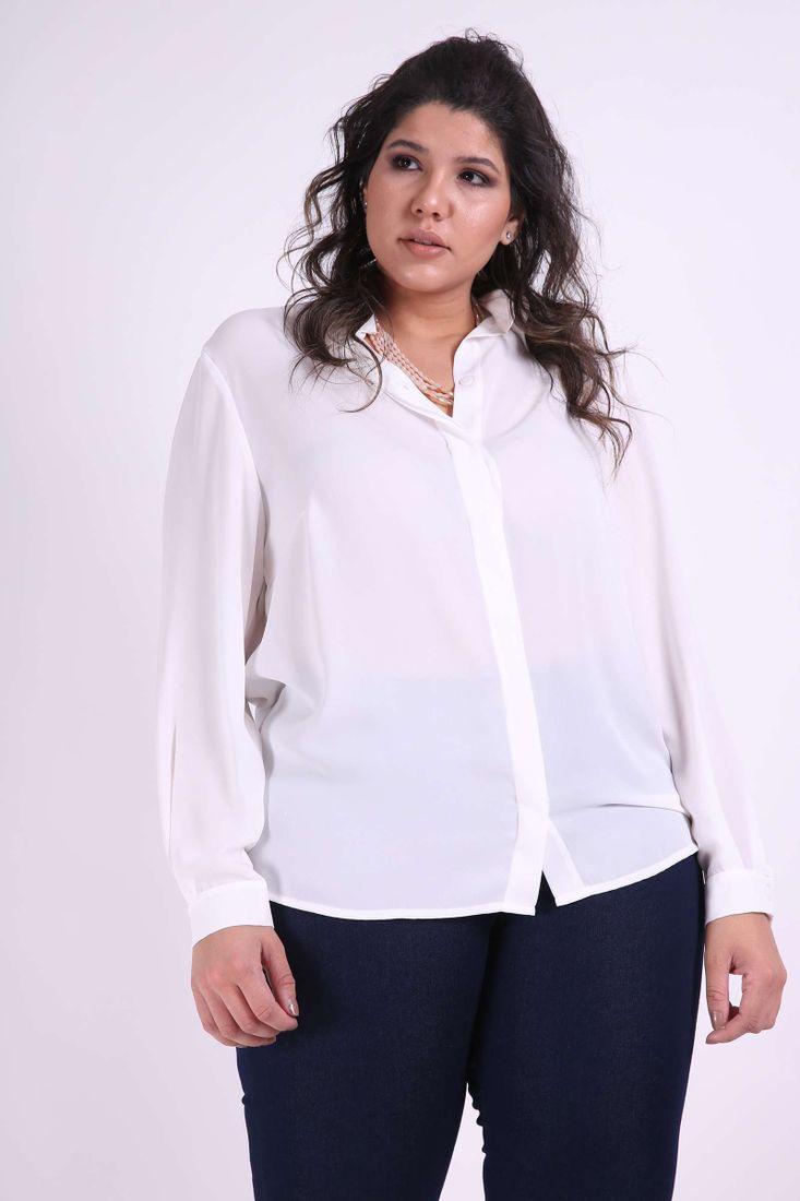Camisa-crepe-plus-size