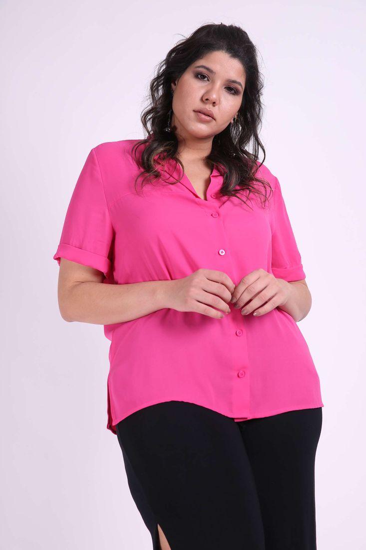 Camisa-crepe-manga-curta-plus-size