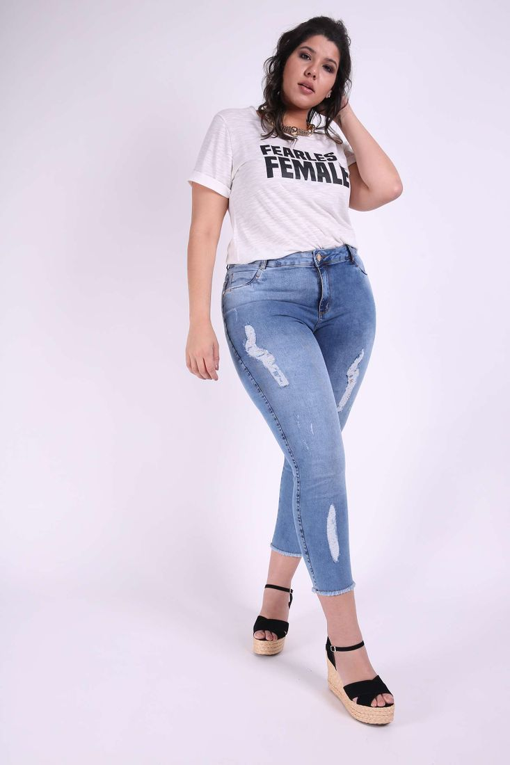 Cropped-jeans-plus-size