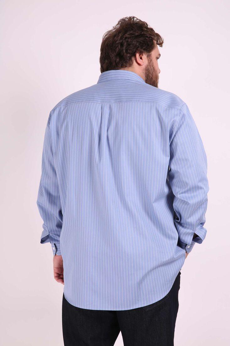 Camisa-fio-tinto-listrado--plus-size