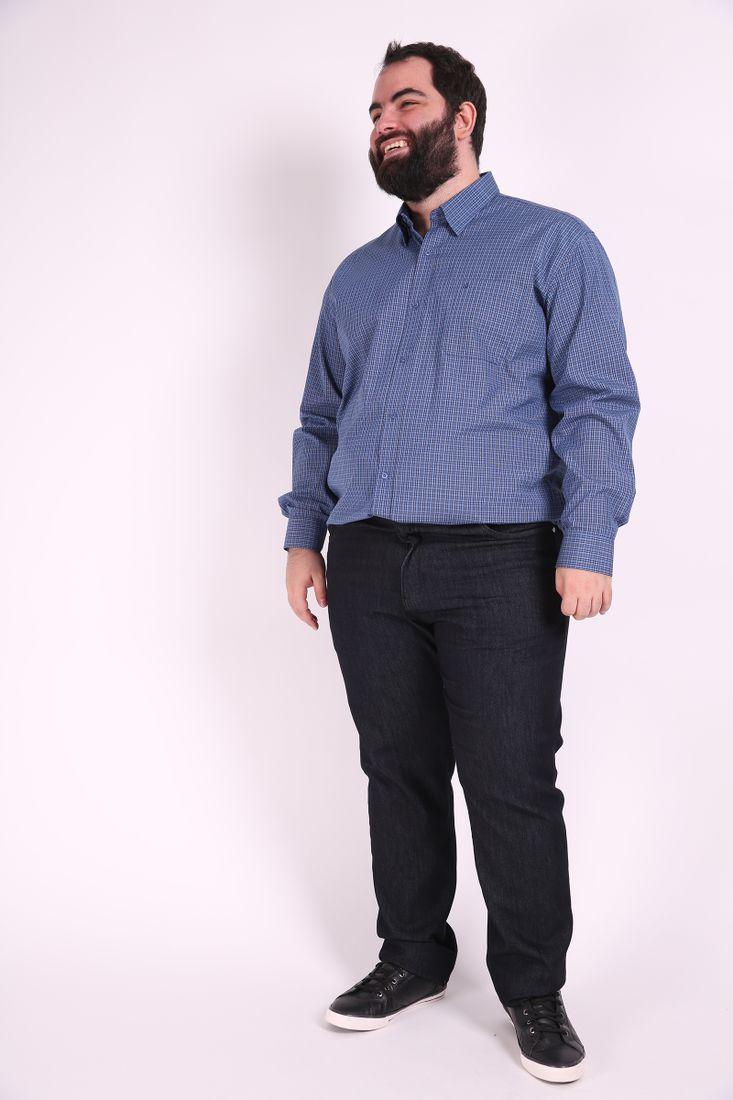 Camisa-manga-longa-xadrez-fio-tinto-plus-size ... 4e40582d59c18