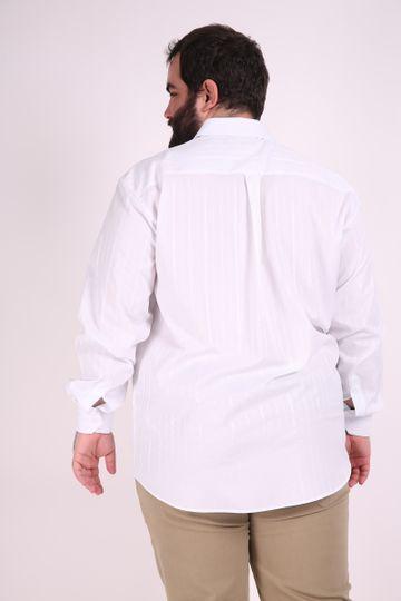 Camisa-manga-longa-tricoline-fio-tinto-plus-size