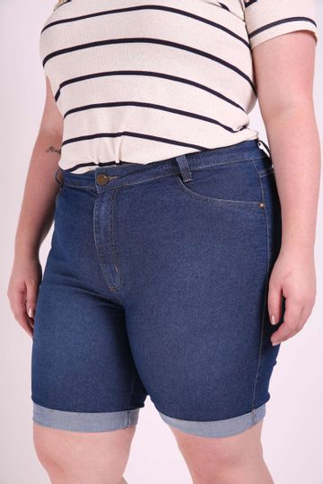 Bermuda-jeans--slim--plus-size