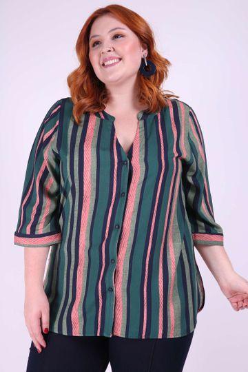 63309e37a Camisa listrada viscose plus size| Kauê Plus Size - Kaue Plus Size