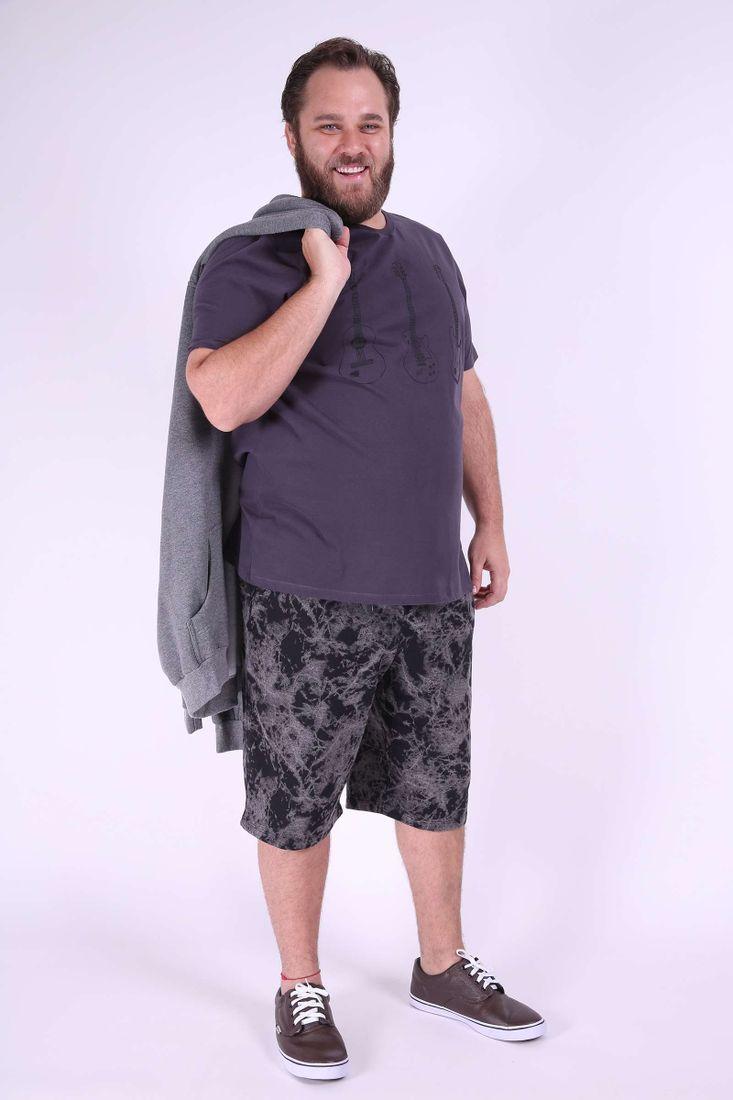 Bermuda-moleton-estampada-plus-size