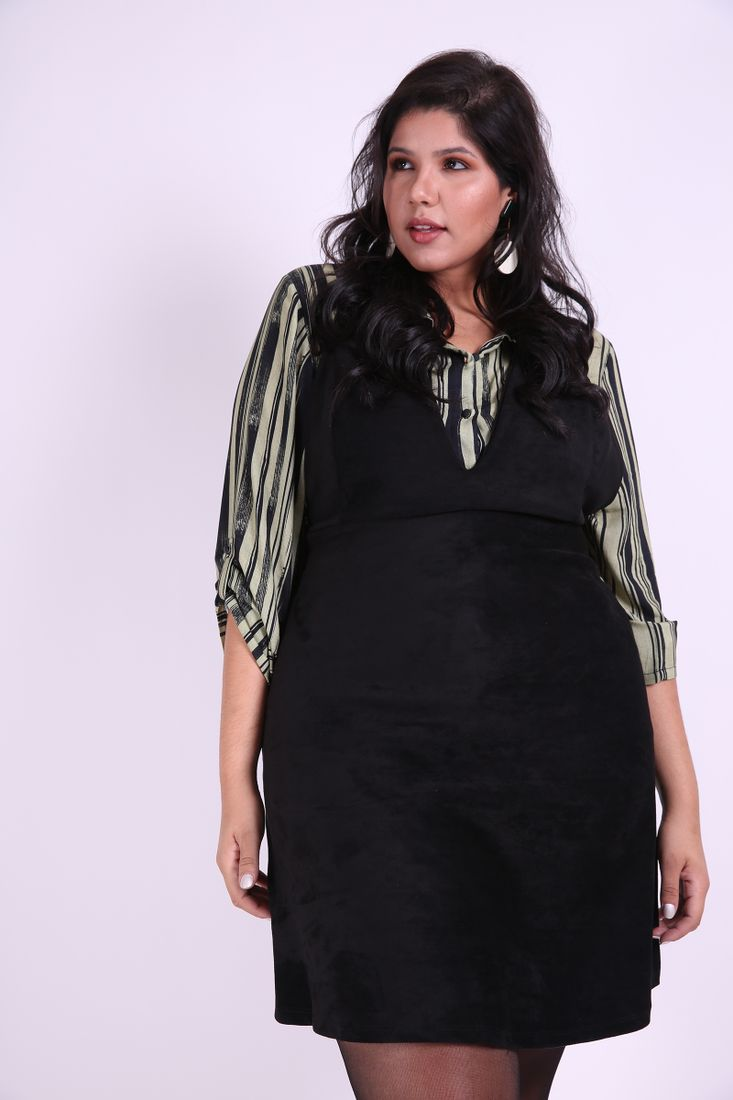 Salopete-suede-plus-size