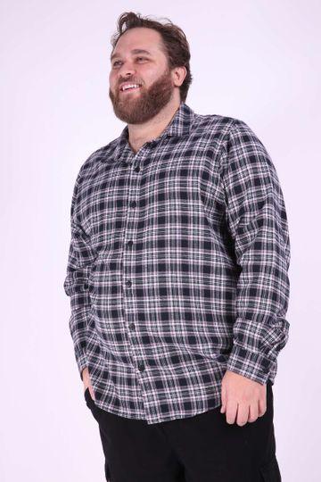 a784b3b93f Camisa Social Manga Longa Plus Size Masculina