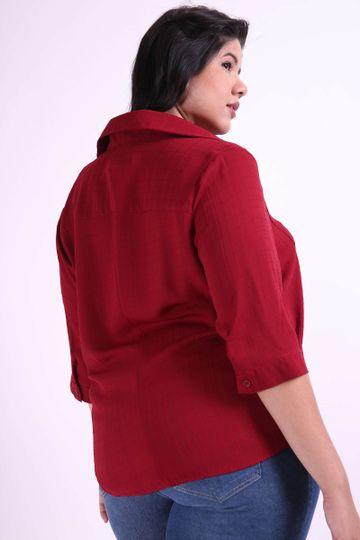 Camisa-manga-3-4-xadrez-maquinetado-plus-size