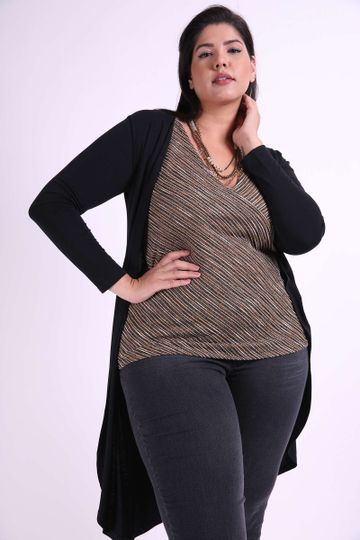 Cardigan-viscolycra-liso-plus-size