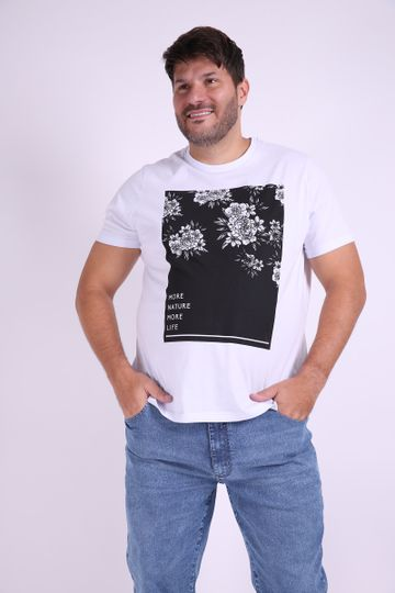 Camiseta-masculina-estampa-floral-plus-size