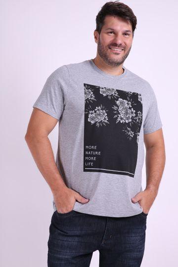 0d43b948fa Camiseta masculina estampa floral plus size