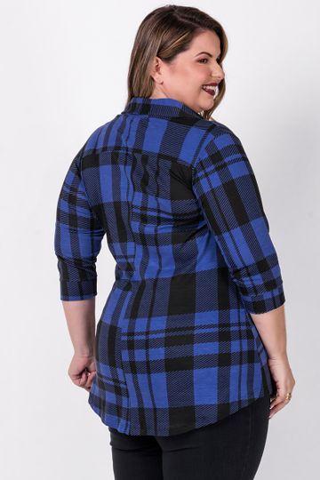Mini-vest-xadrez-plus-size