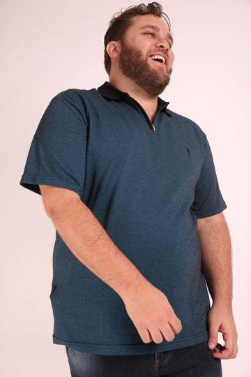 Camisa-polo-jacquard-masculina-plus-size