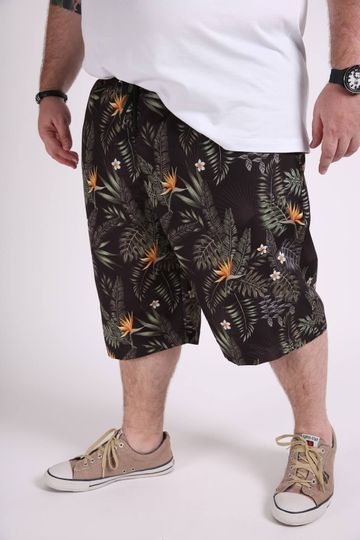 Bermuda-tactel-masculina-estampa-tropical-plus-size