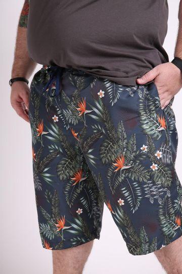 Bermuda-tactel-masculina-estampa-tropical-plus-size
