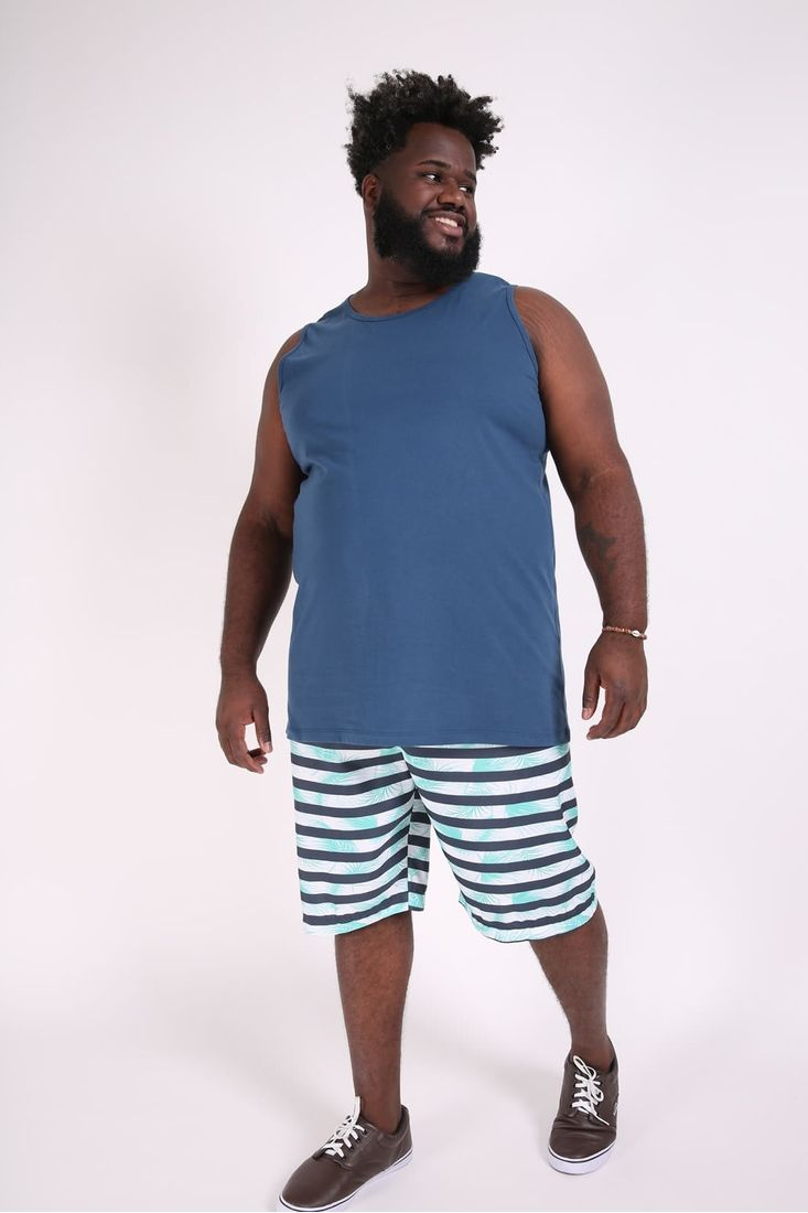 Bermuda-tactel-estampada-plus-size