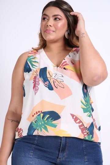 Regata-decote-v-plus-size