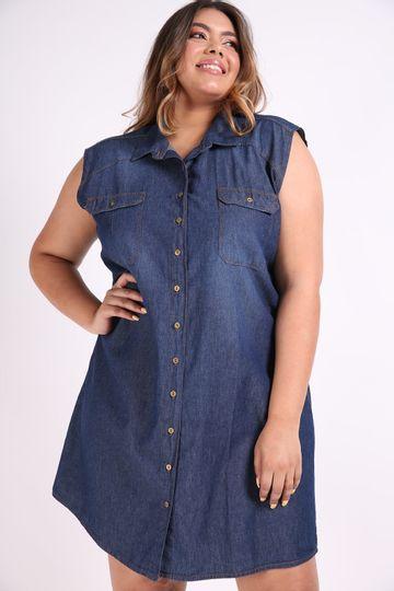 Vestido-jeans-camisa-plus-size