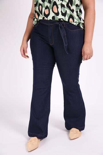 Calca-flare-feminina-jeans-com-cinto-plus-size