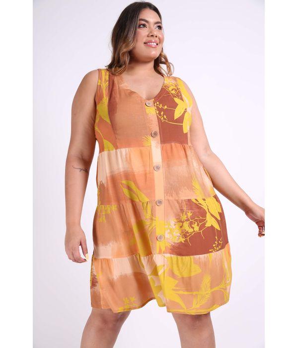 Feminino Vestidos Amarelo Kaueplussize Mobile
