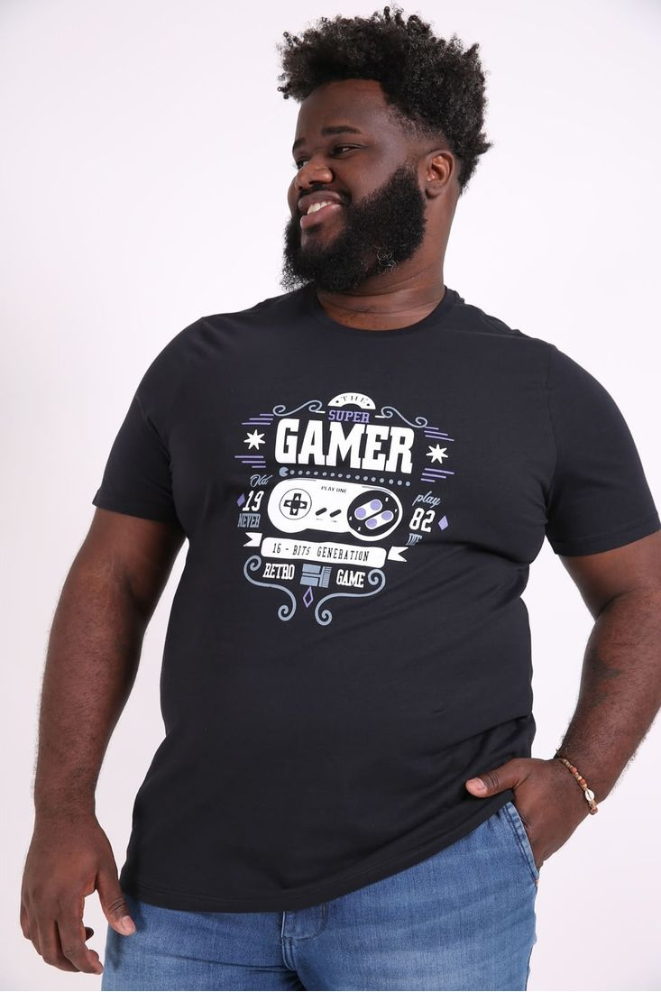 Camiseta-estampa-gamer-plus-size