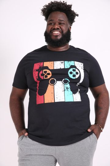 Camiseta-estampa-game-plus-size