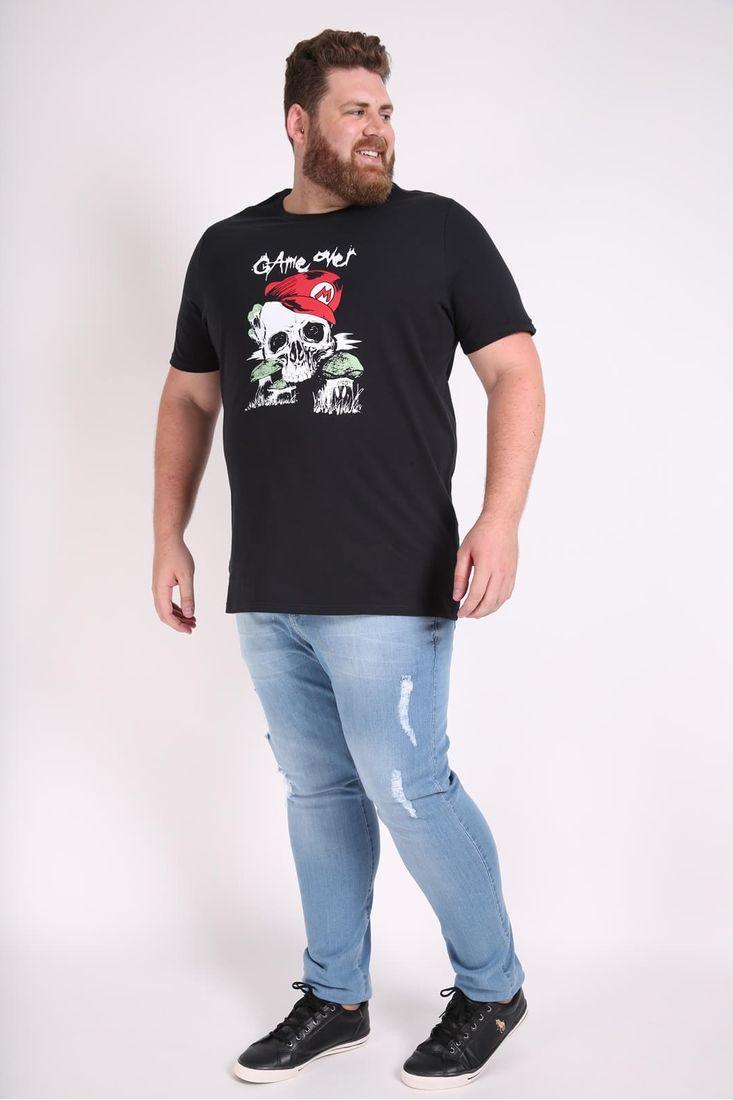 Camiseta-estampa-caveira-plus-size