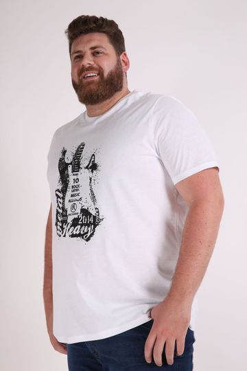 Camiseta-estampa-guitarra-plus-size