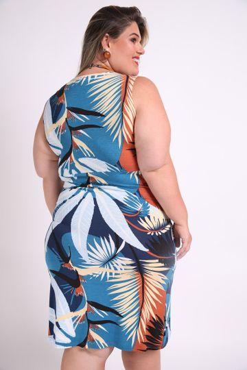 Vestido-folhagem-plus-size