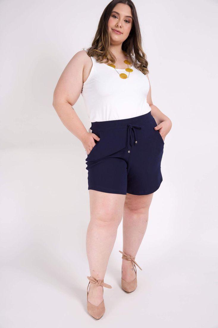 Shorts-feminino-bicolor-plus-size