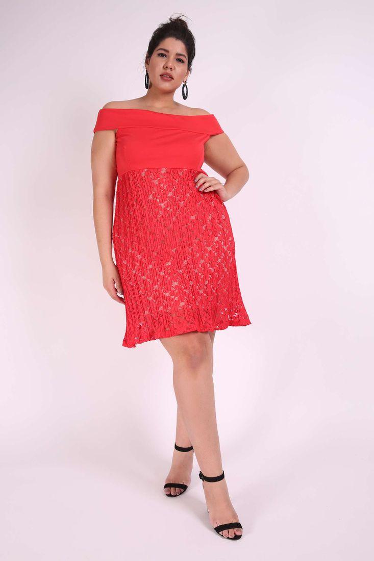 Vestido-renda-plus-size
