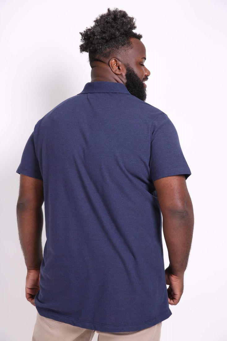 Camisa-polo-piquet-mescla-plus-size