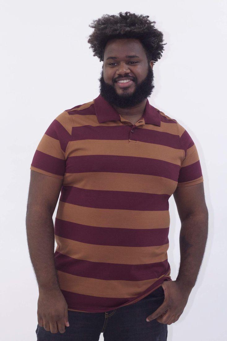 Camisa-polo-listrada-plus-size