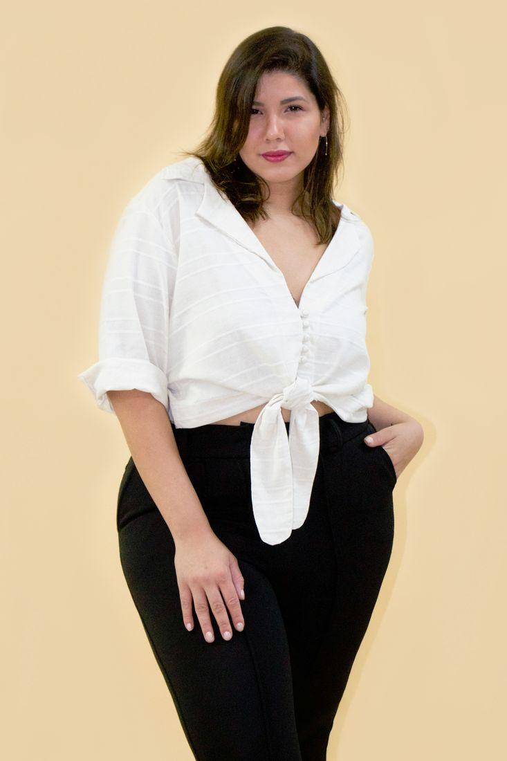 Camisa-eco-stipe-plus-size