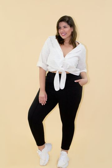 Camisa-eco-stipe-plus-size