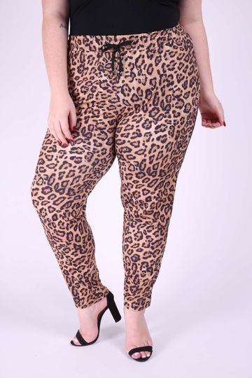 Calca-jogging-feminina-animal-print-plus-size