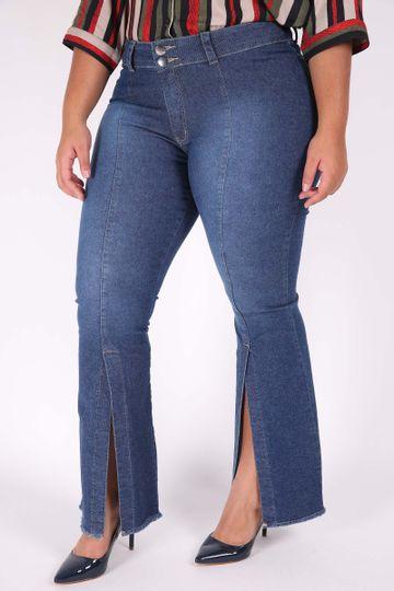 Calca-Jeans-Flare-Feminina-com-abertura-na-perna-Plus-Size_0102_1