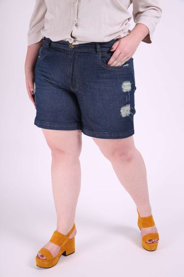 Short-jeans-destroyed-plus-size